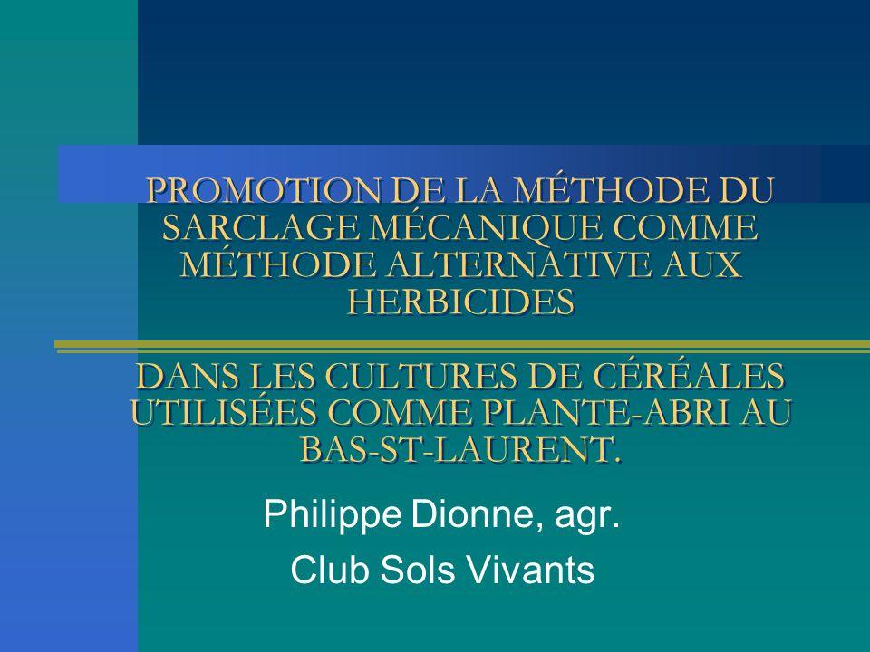 Philippe Dionne, agr. Club Sols Vivants