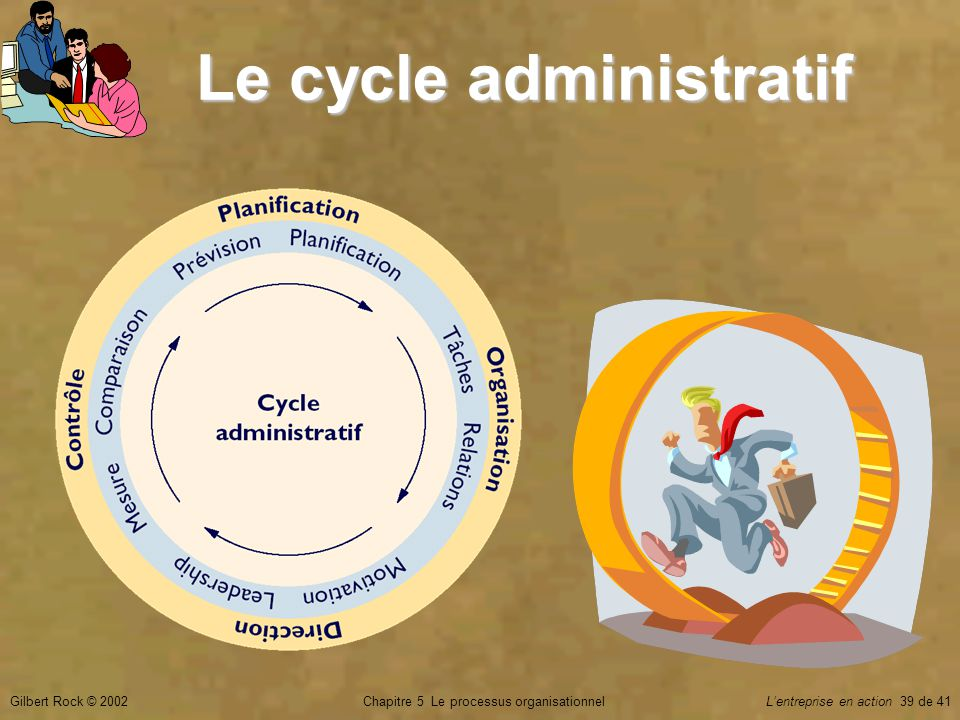 Le cycle administratif