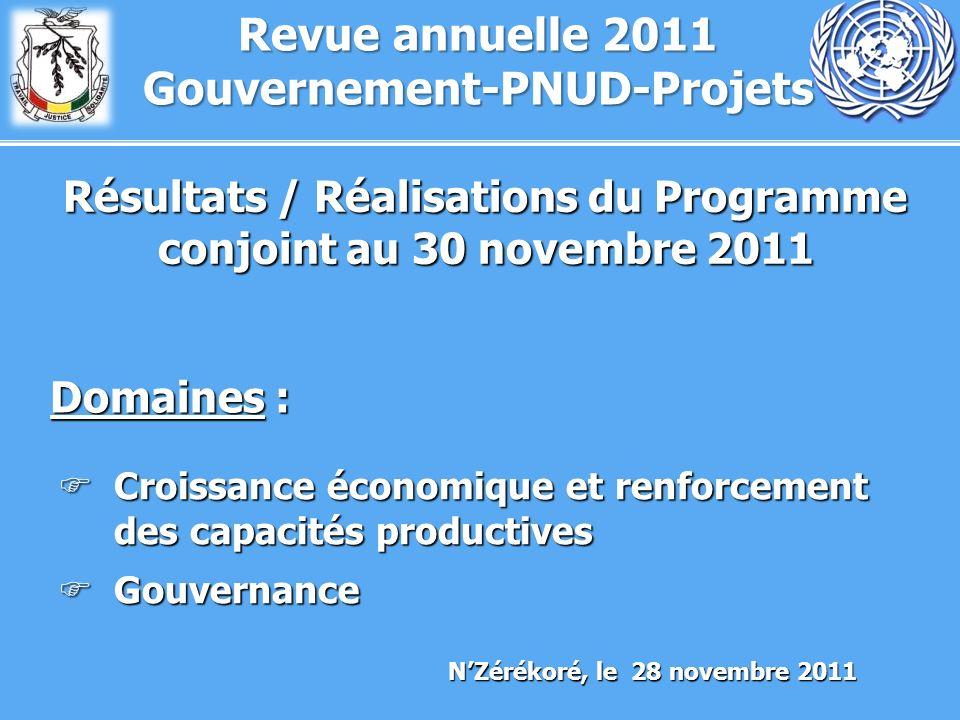 Revue annuelle 2011 Gouvernement-PNUD-Projets