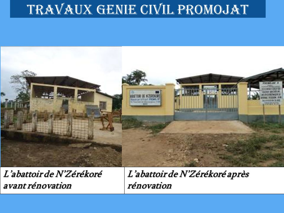 Travaux genie civil promojat