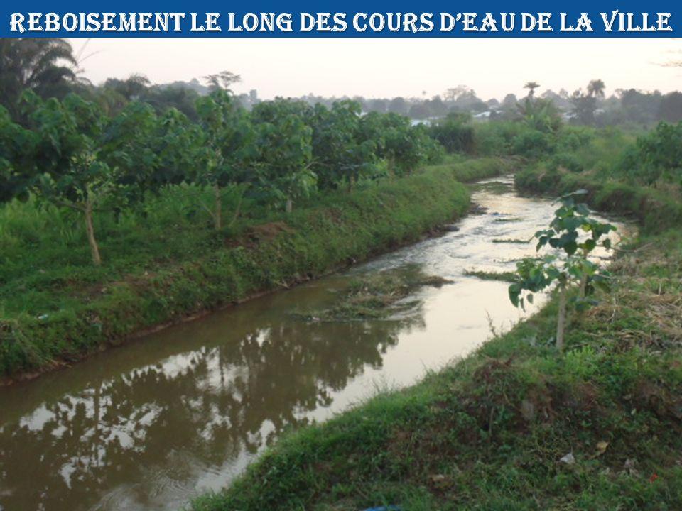 REBOISEMENT LE LONG DES COURS D'EAU DE LA VILLE