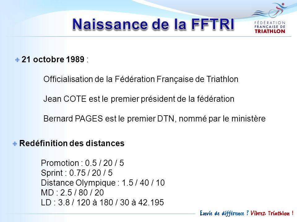 Naissance de la FFTRI 21 octobre 1989 :