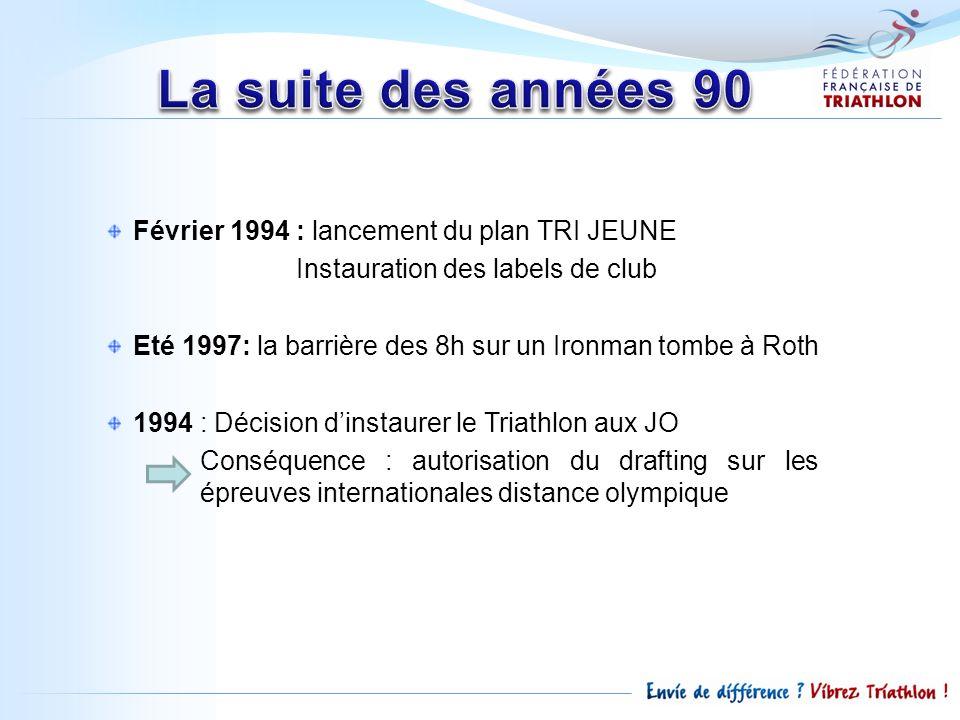La suite des années 90 Février 1994 : lancement du plan TRI JEUNE