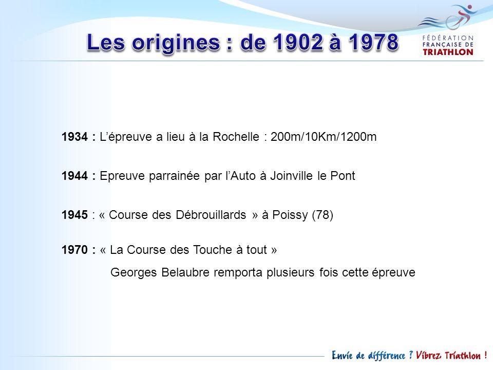 Les origines : de 1902 à 1978 1934 : L'épreuve a lieu à la Rochelle : 200m/10Km/1200m. 1944 : Epreuve parrainée par l'Auto à Joinville le Pont.