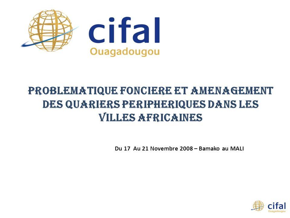 Du 17 Au 21 Novembre 2008 – Bamako au MALI