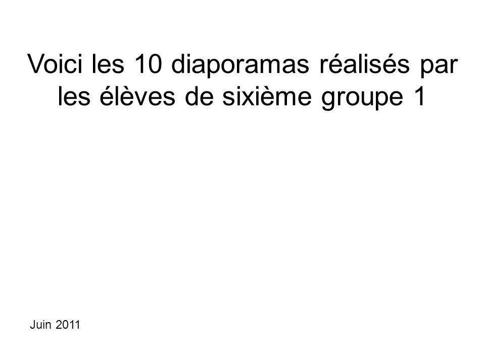 Voici les 10 diaporamas réalisés par les élèves de sixième groupe 1