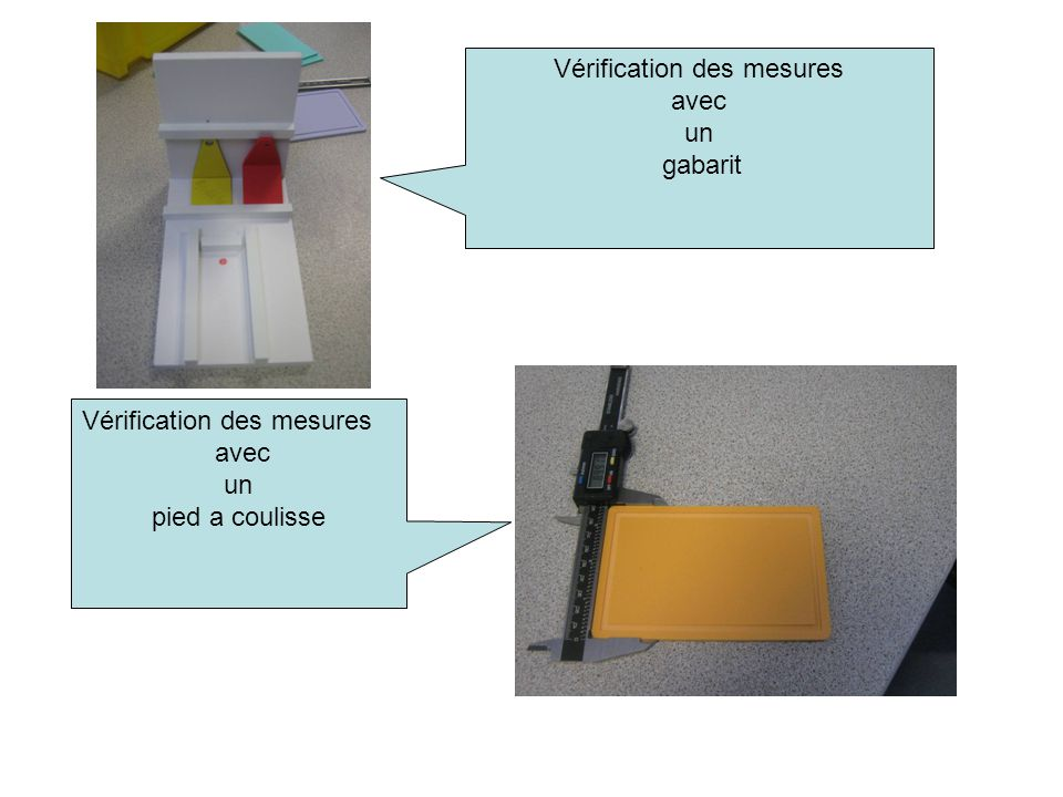 Vérification des mesures
