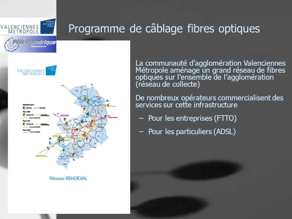 Programme de câblage fibres optiques