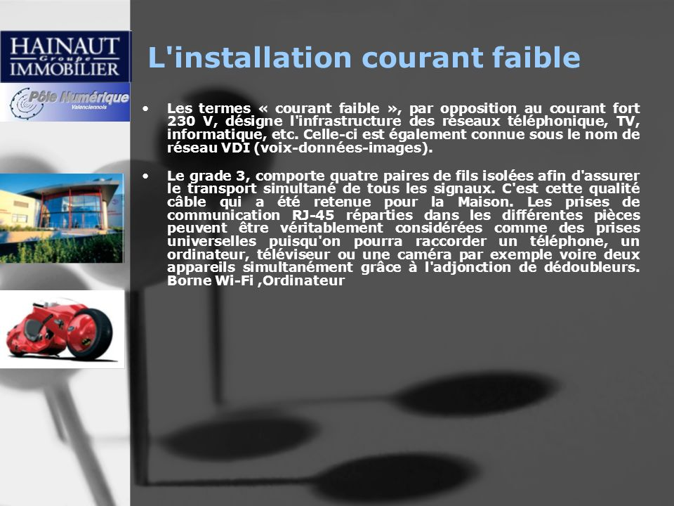 L installation courant faible
