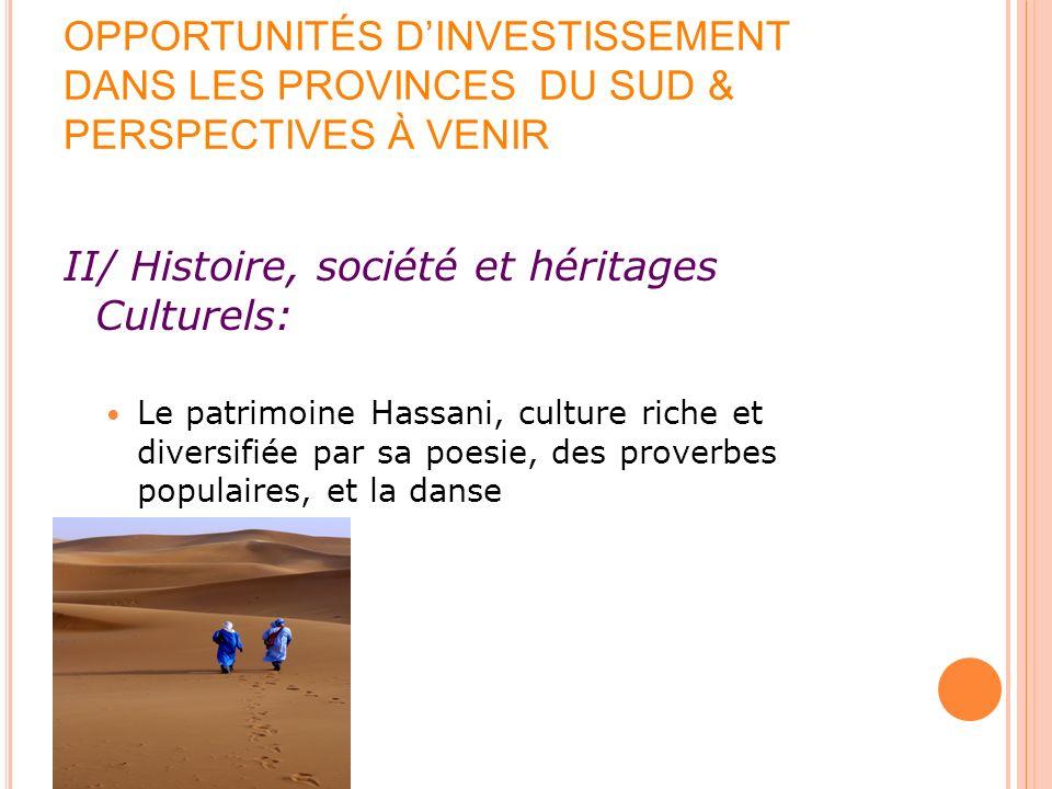 II/ Histoire, société et héritages Culturels: