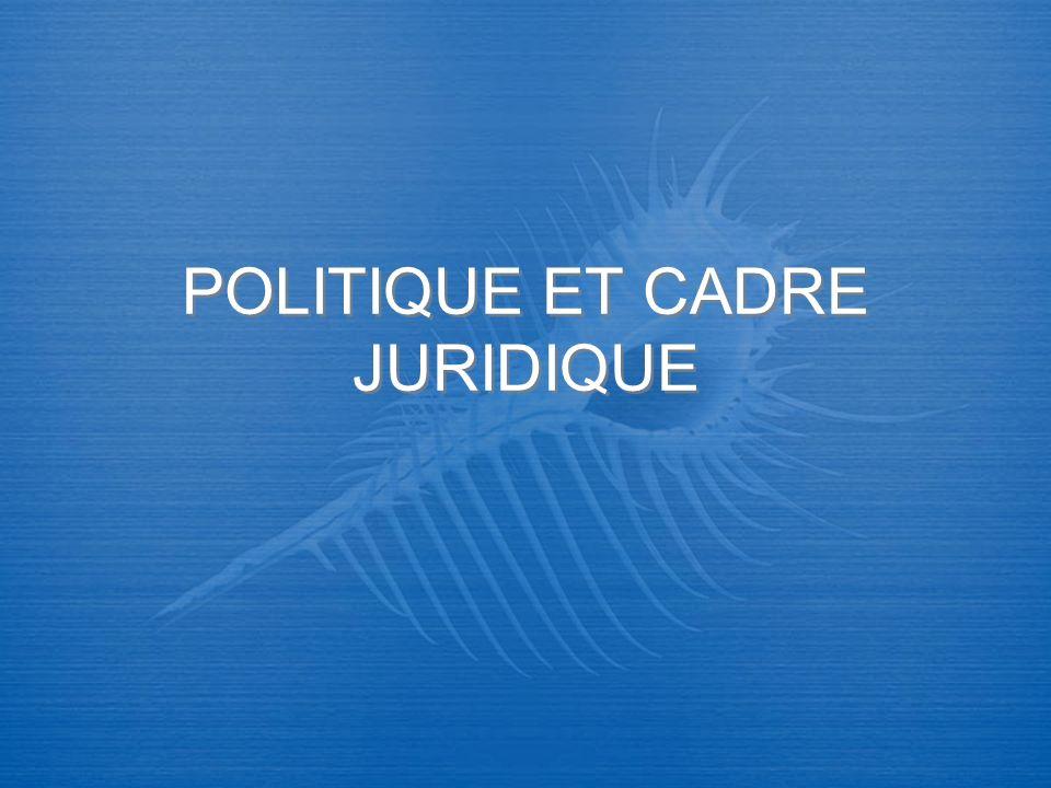 POLITIQUE ET CADRE JURIDIQUE