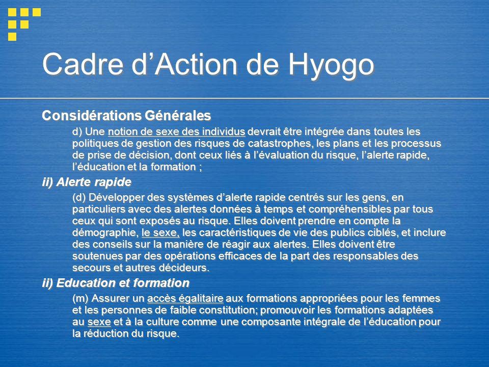 Cadre d'Action de Hyogo