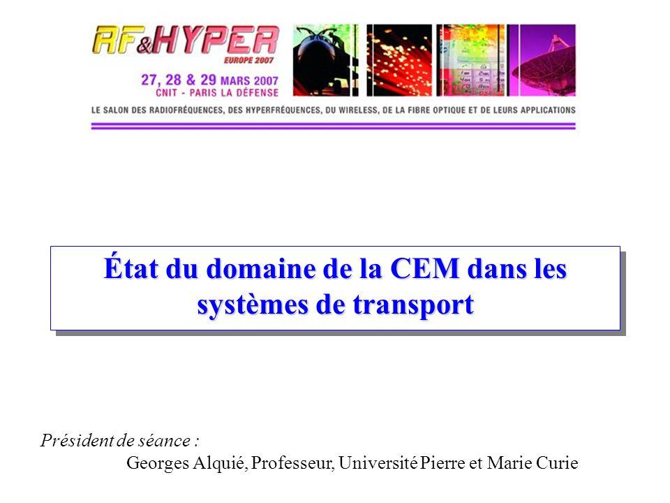 État du domaine de la CEM dans les systèmes de transport