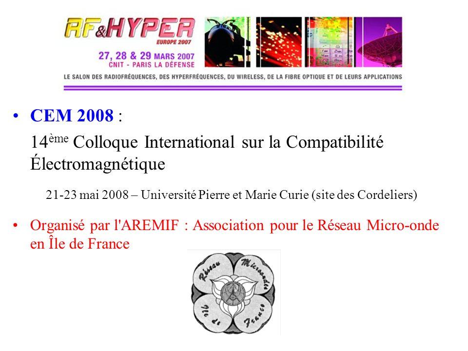 14ème Colloque International sur la Compatibilité Électromagnétique