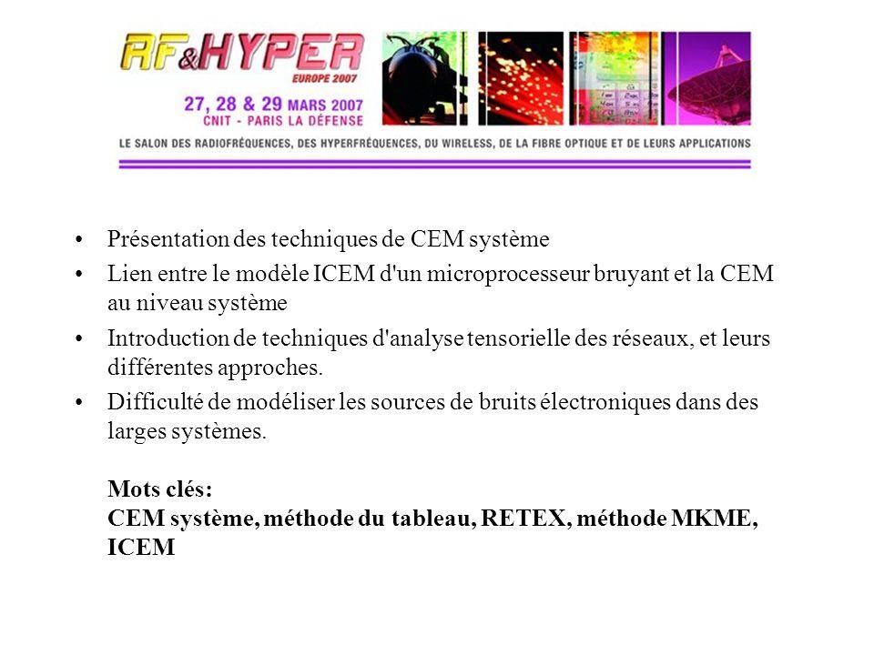 Présentation des techniques de CEM système