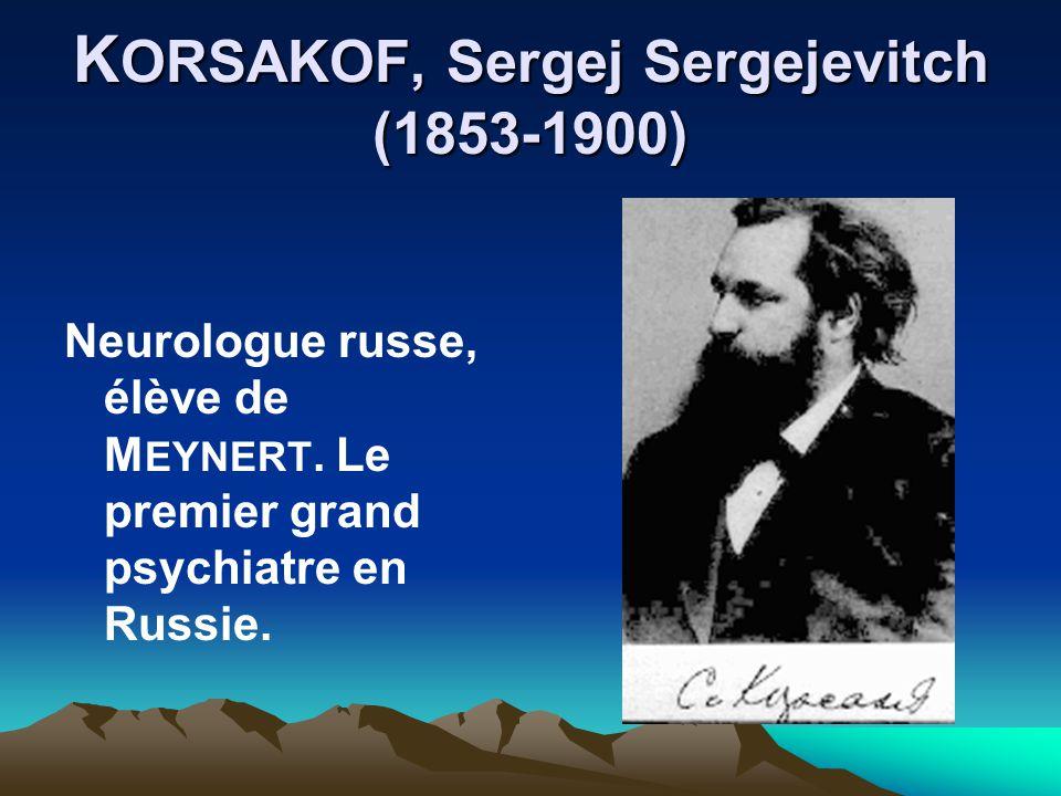 KORSAKOF, Sergej Sergejevitch (1853-1900)