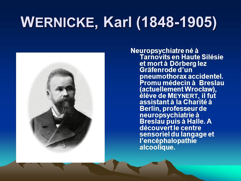 WERNICKE, Karl (1848-1905)