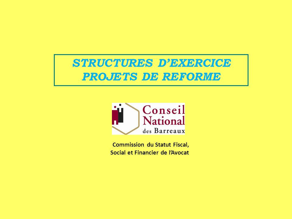 STRUCTURES D'EXERCICE