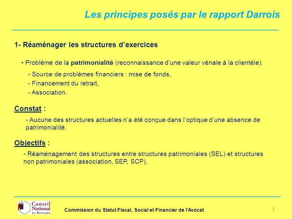 Les principes posés par le rapport Darrois