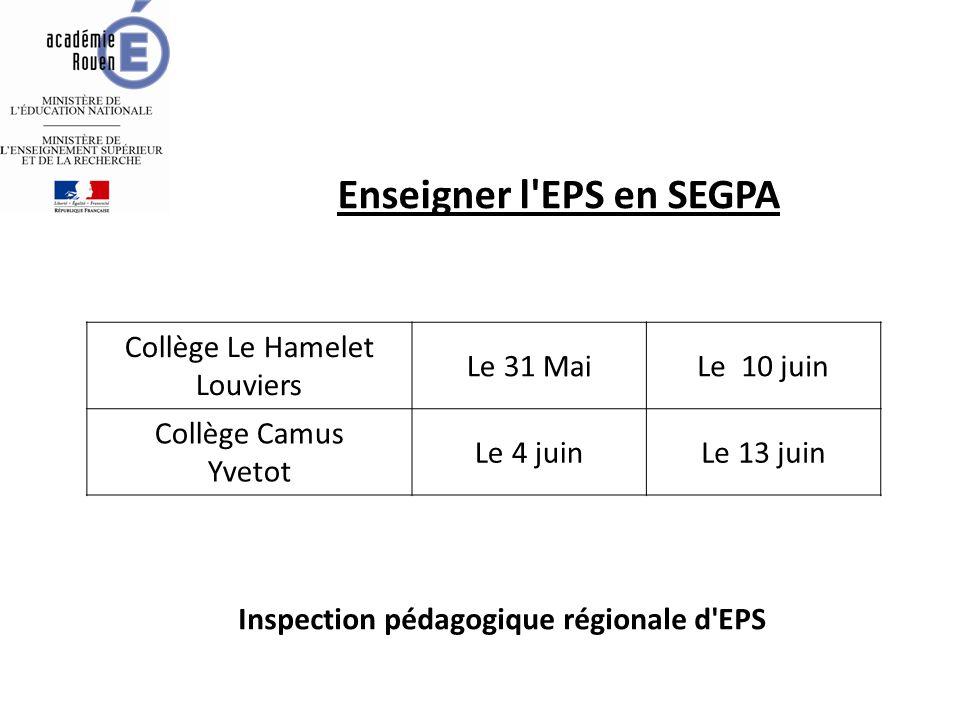Enseigner l EPS en SEGPA