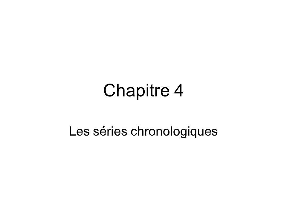 Les séries chronologiques