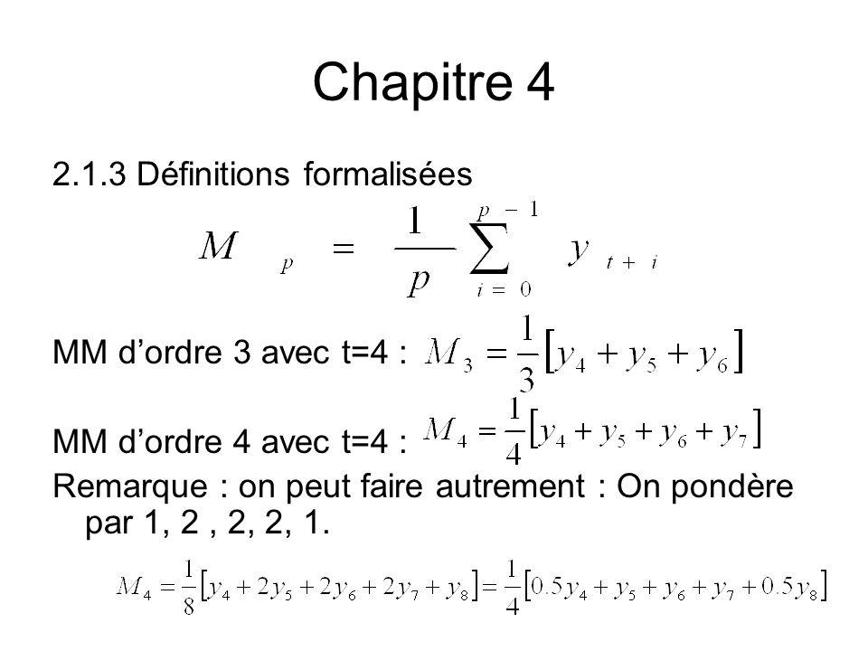 Chapitre 4 2.1.3 Définitions formalisées MM d'ordre 3 avec t=4 :
