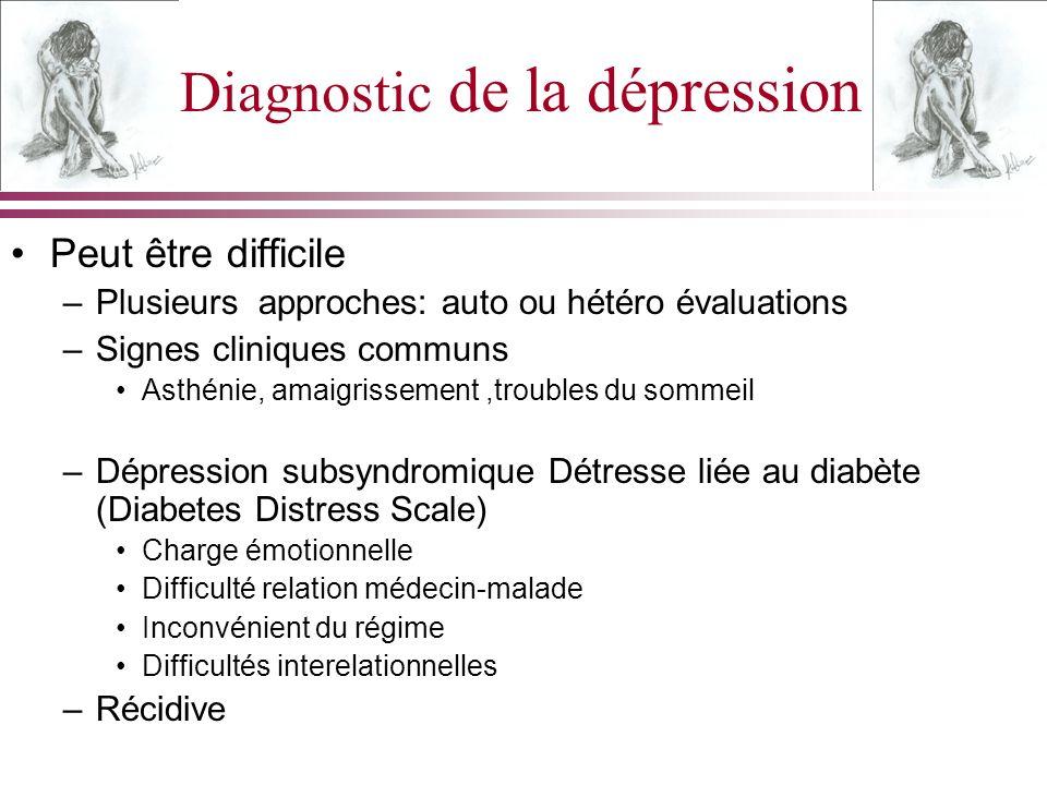 Diagnostic de la dépression