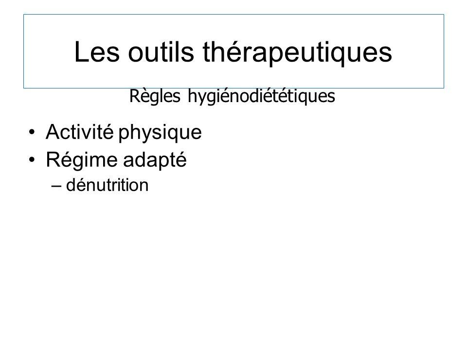 Les outils thérapeutiques