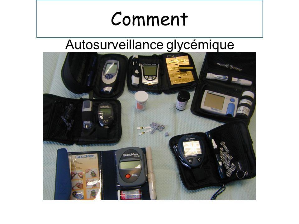 Comment Autosurveillance glycémique