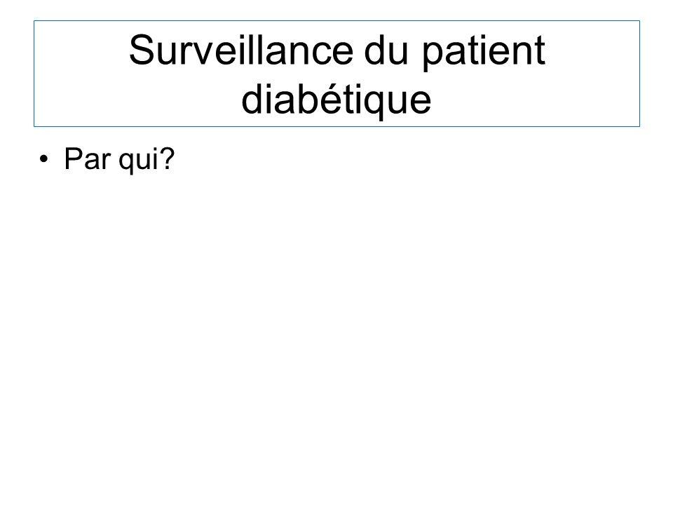 Surveillance du patient diabétique
