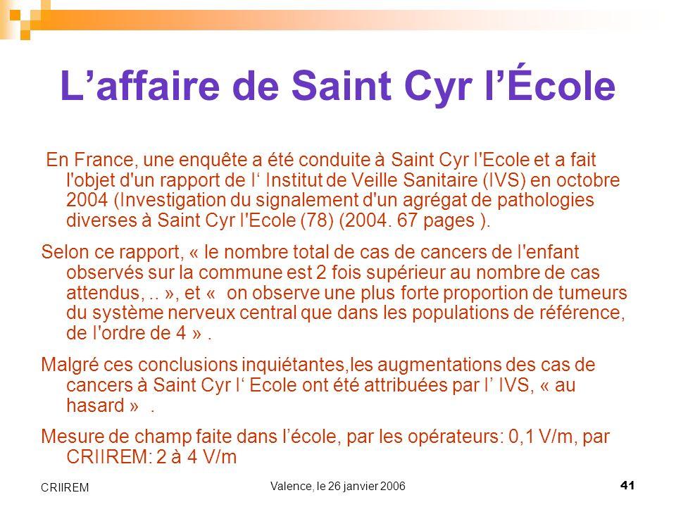 L'affaire de Saint Cyr l'École
