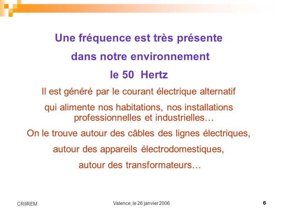 Une fréquence est très présente dans notre environnement