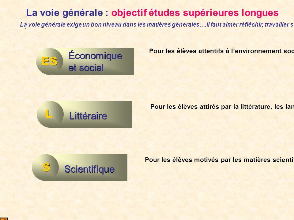 La voie générale : objectif études supérieures longues