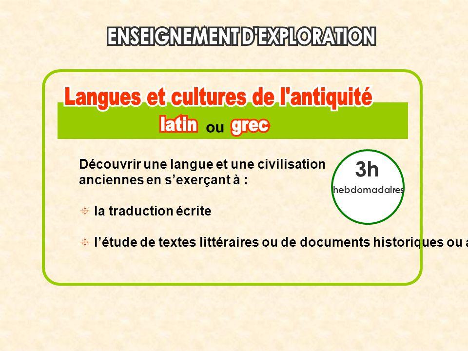 3h ou Découvrir une langue et une civilisation