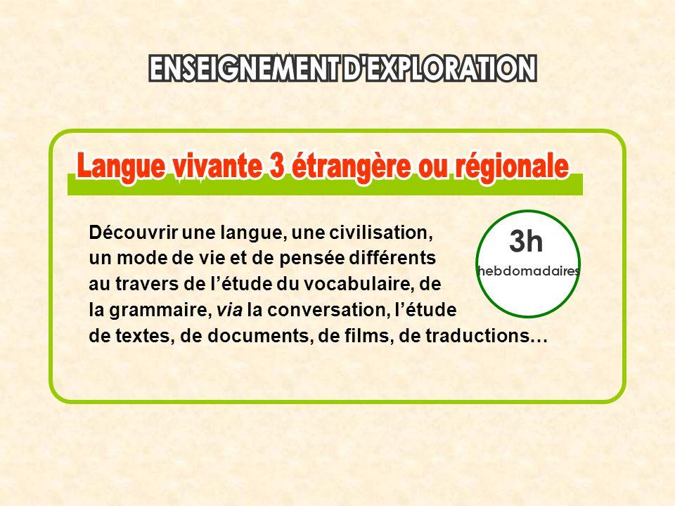 3h Découvrir une langue, une civilisation,