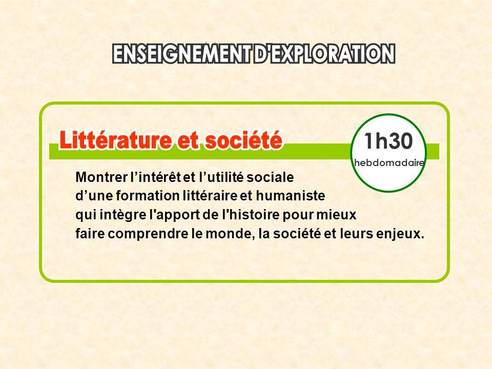 1h30 Montrer l'intérêt et l'utilité sociale