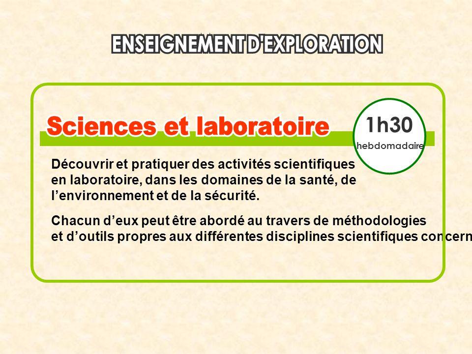 1h30 Découvrir et pratiquer des activités scientifiques