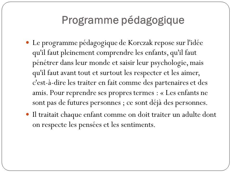 Programme pédagogique