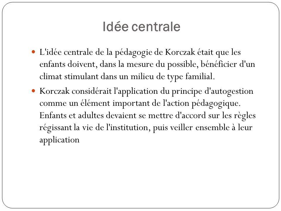 Idée centrale
