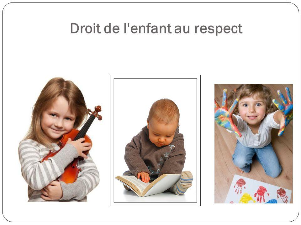 Droit de l enfant au respect