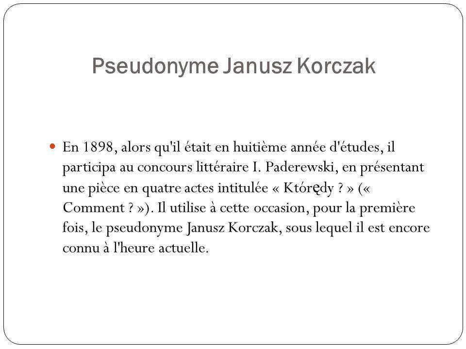 Pseudonyme Janusz Korczak