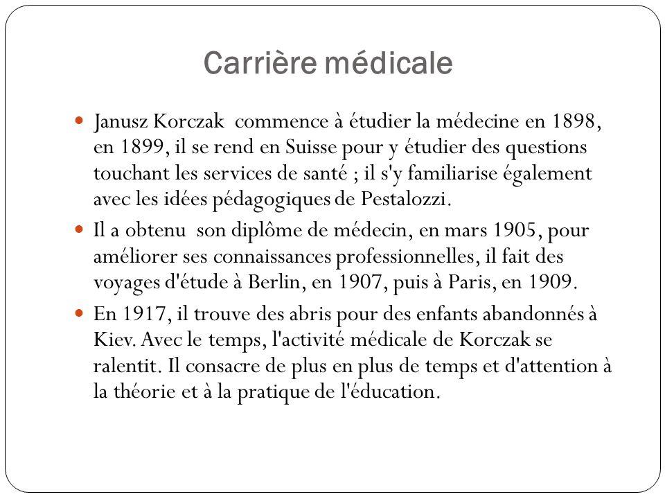 Carrière médicale