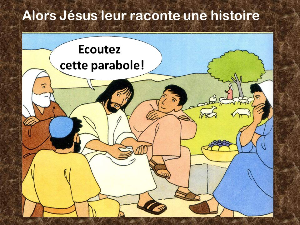Alors Jésus leur raconte une histoire