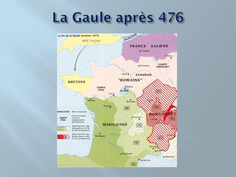 La Gaule après 476