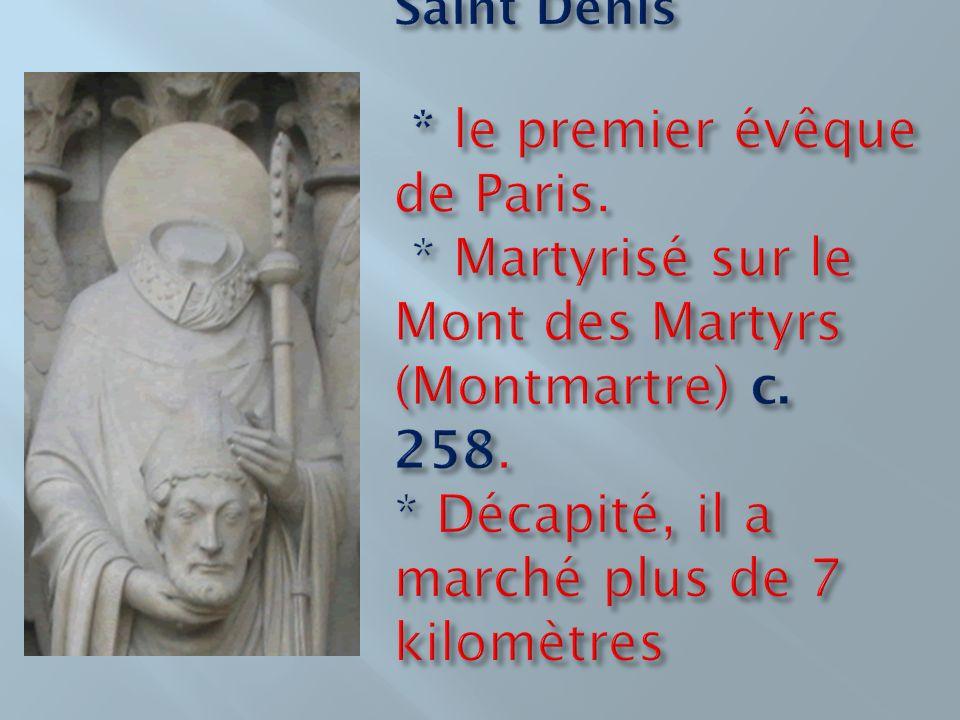 Saint Denis. le premier évêque de Paris