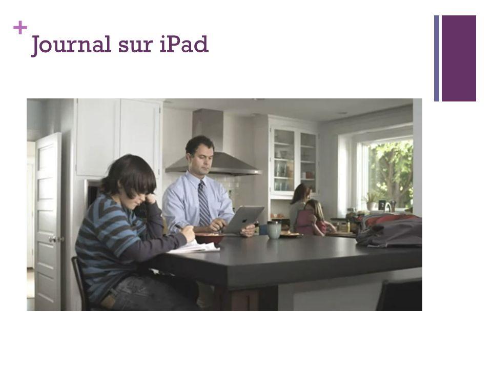 Journal sur iPad iPad publicité