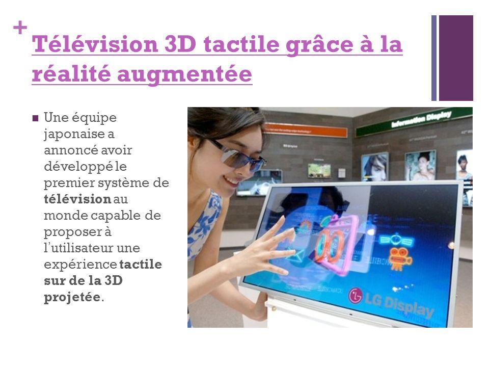 Télévision 3D tactile grâce à la réalité augmentée