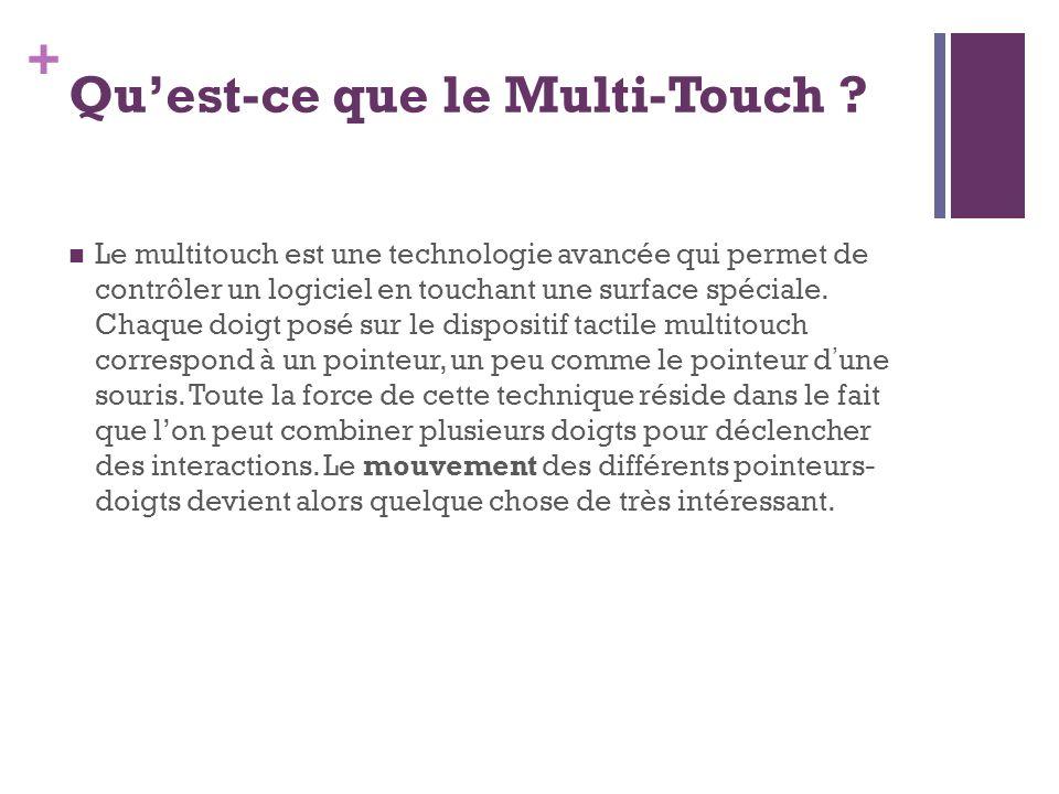 Qu'est-ce que le Multi-Touch