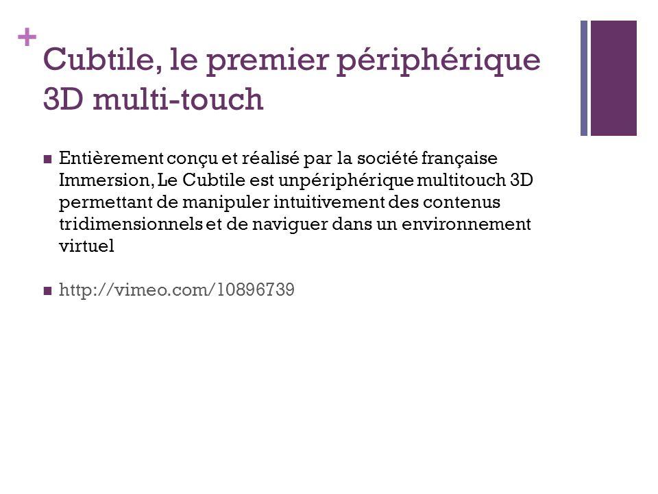 Cubtile, le premier périphérique 3D multi-touch