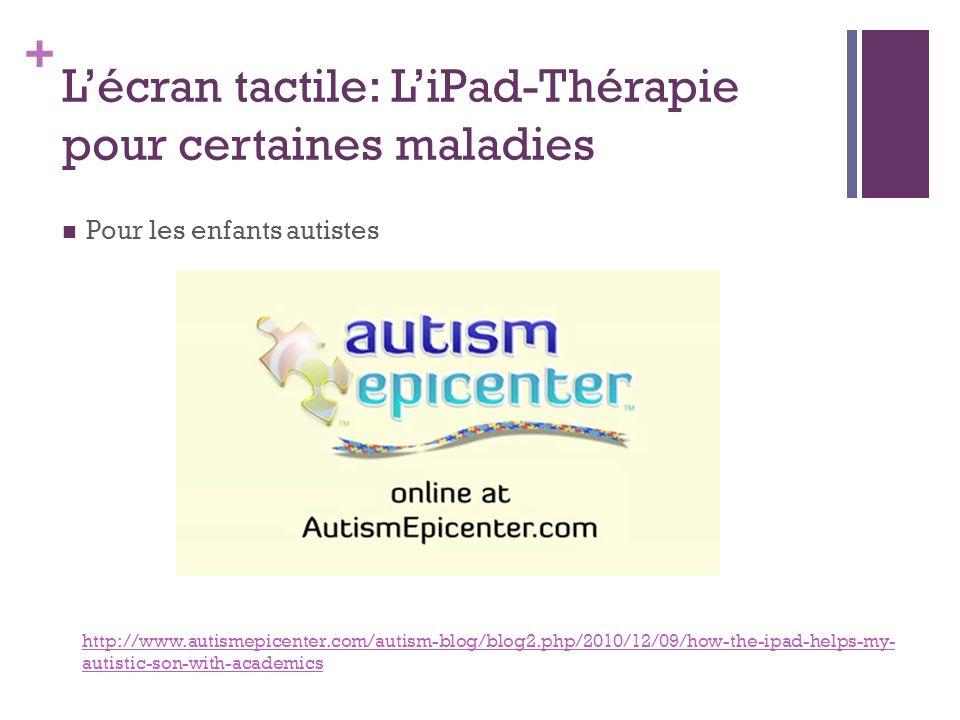L'écran tactile: L'iPad-Thérapie pour certaines maladies